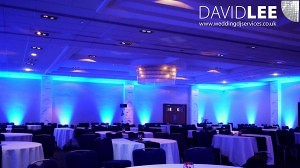 Blue Wedding Uplighting