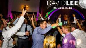 Dance floor full at Wedding with hands in the air