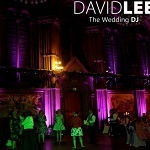 Pink Event Lighting at Manchester Town Hall
