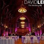 Manchester Town Hall Pink uplighting