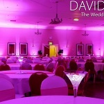 Free uplighting offer with pink wedding lighting