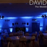 Mottram Hall blue venue lighting