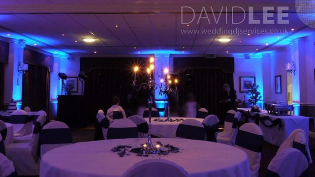 Blue Up-lighting Towneley Suite
