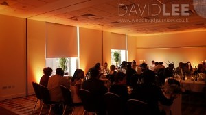 Wedding Breakfast and uplighting