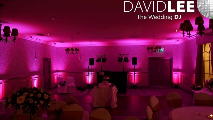 Mottram Hall Pink Venue lighting